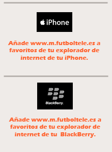 Instalar futboltele en moviles Blackberry e iPhone